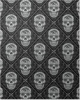 Day of the Dead Seamless Pattern Poster