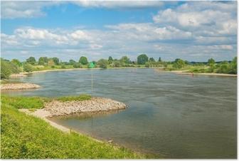 Poster De oude Nederlandse rivier de IJssel tussen Zutphen en Deventer