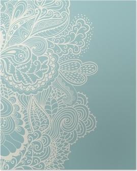 Poster Decoratief element grens. Abstracte uitnodigingskaart. Sjabloon wa