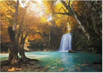 Poster Deep forest Waterfall à Kanchanaburi, Thaïlande