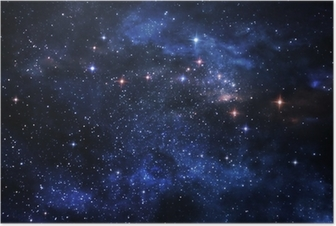 Deep space nebulae Poster