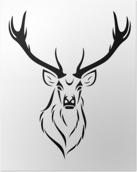Deer isolated Poster