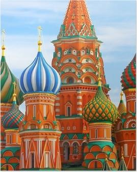 Poster Den mest kända platsen i Moskva, Vasilijkatedralen, Ryssland