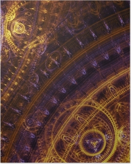 Poster Dessin fantaisie steampunk