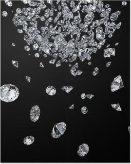 Poster Diamanten op zwart