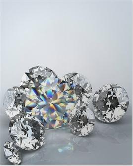 Poster Diamond juweel geïsoleerd