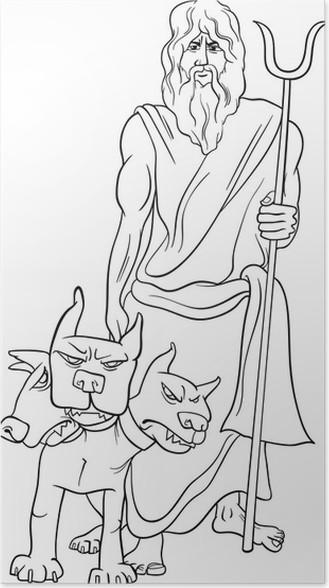 Póster Dios griego hades página para colorear • Pixers® - Vivimos ...