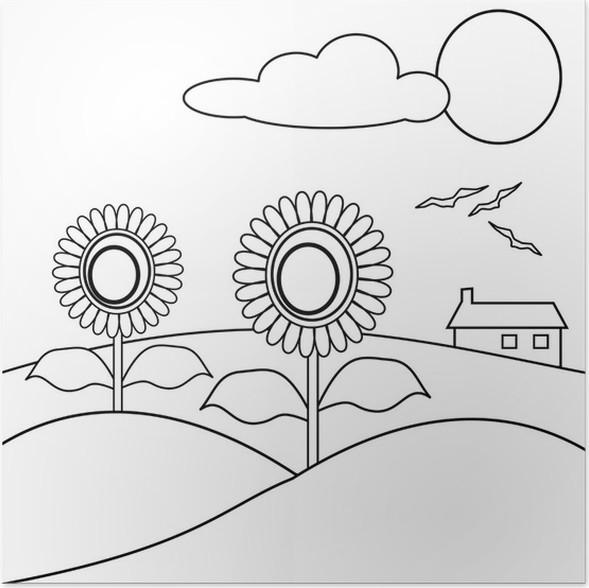 Disegno Con Girasoli Da Colorare Poster Pixers We Live To Change
