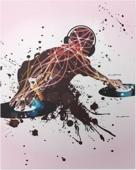 Poster DJ Discoteca