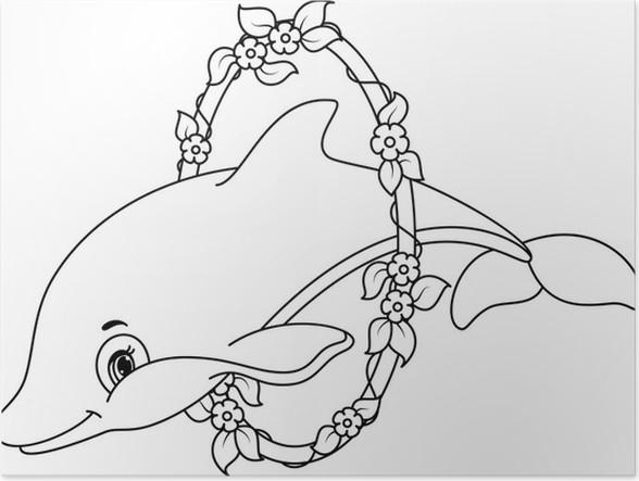 poster dolfijnen kleurplaat pixers 174 we leven om te
