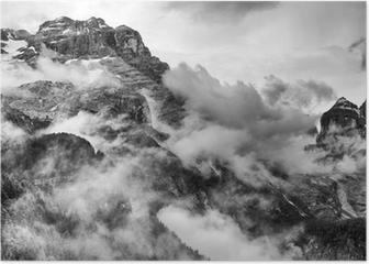 Dolomites Mountains Poster