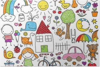 Poster Doodle enfants