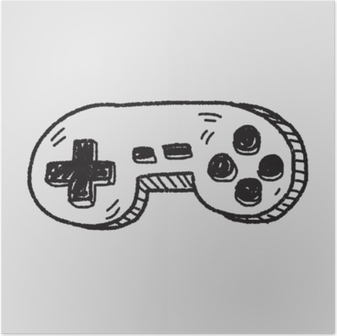 Poster Doodle game controller