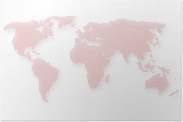 Dotted red world map poster pixers we live to change dotted red world map poster accesories and objects gumiabroncs Choice Image