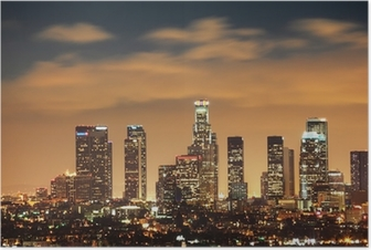 Poster Downtown Los Angeles Skyline