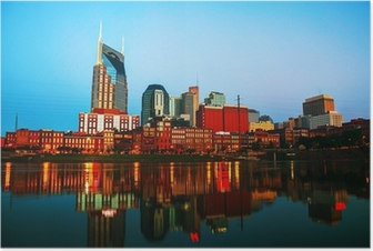 Downtown Nashville cityscape in the morning Poster