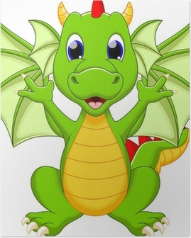 Dragon cartoon Poster