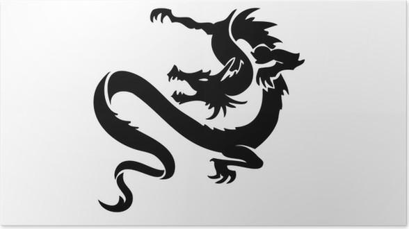 Póster Dragon tattoo • Pixers® - Vivimos para cambiar