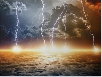 Poster Dramatische apocalyptische achtergrond