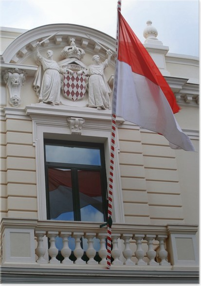 Poster drapeau cusson monaco pixers nous vivons pour - Ecusson as monaco ...