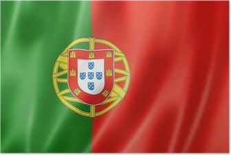 Poster Drapeau portuguais