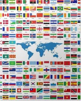 Poster Drapeaux du monde entier