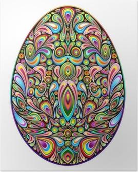 Easter Egg Psychedelic Art Design Uovo di Pasqua Ornamentale Poster