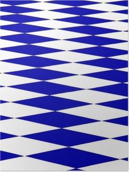 Poster Échiquier bleu