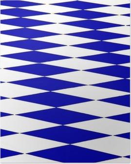 échiquier bleu Poster