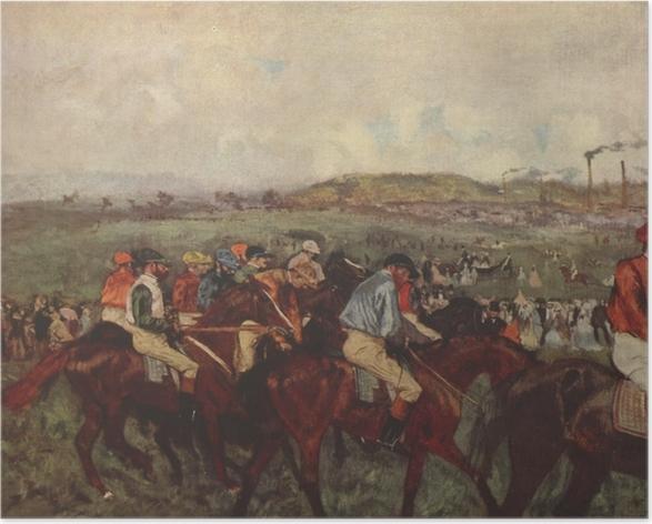 Poster Edgar Degas - Chevaux de course - Reproductions