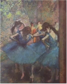 Poster Edgar Degas - Danseressen in het blauw