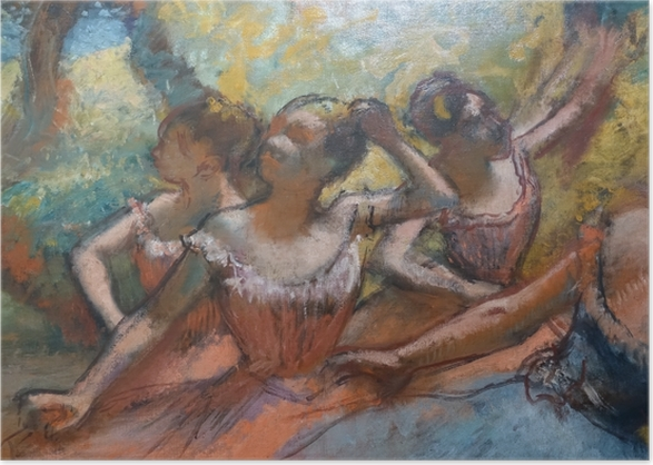 Edgar Degas - Four Dancers on Stage Poster - Reproductions