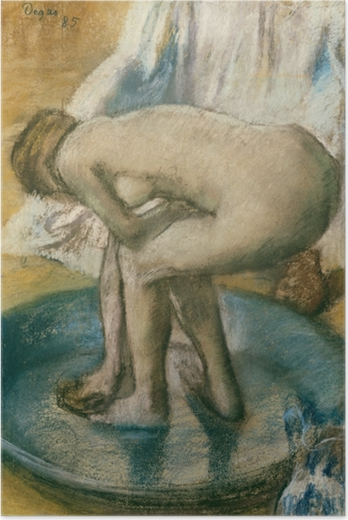 Edgar Degas - In the Bath Poster - Reproductions