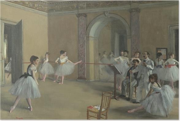 Poster Edgar Degas - Le Foyer de la danse à l'Opéra de la rue Le Peletier - Reproductions