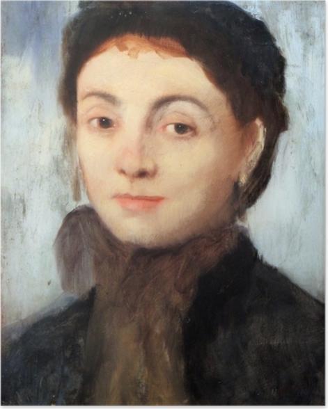 Poster Edgar Degas - Portrait de Joséphine Gaujelin - Reproductions