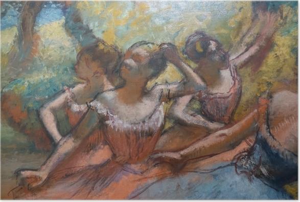 Poster Edgar Degas - Quatre danseurs sur scène - Reproductions