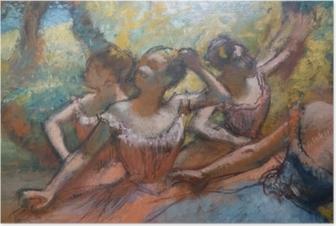 Poster Edgar Degas - Quatre danseurs sur scène