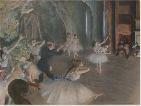 Póster Edgar Degas - Tratando de ballet en la etapa - Reproducciones