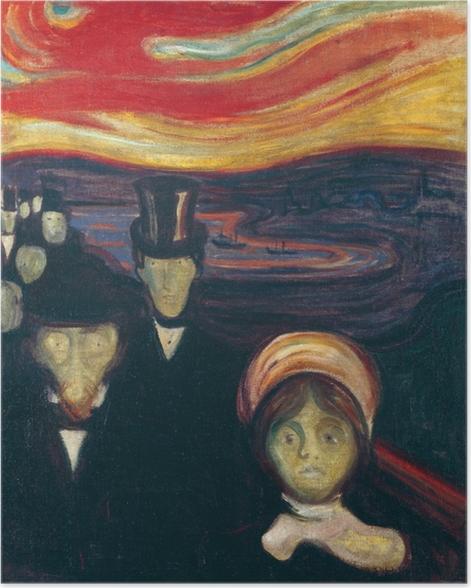 Poster Edvard Munch - Anxiété - Reproductions