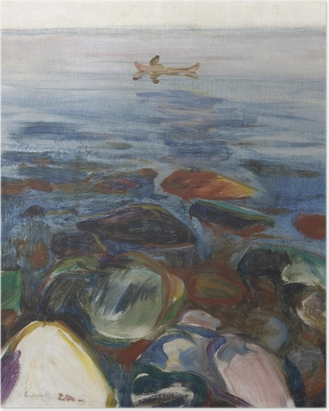 Poster Edvard Munch - Bateau à la mer - Reproductions