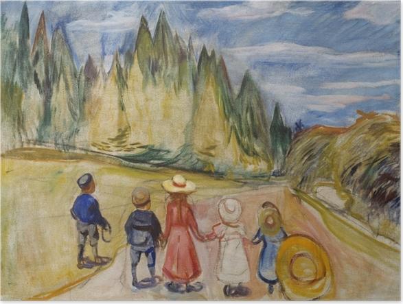 Póster Edvard Munch - El Bosque del cuento - Reproducciones