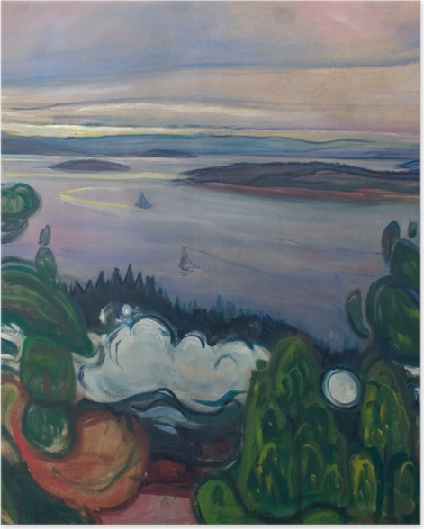 Poster Edvard Munch - La Fumée du Train - Reproductions