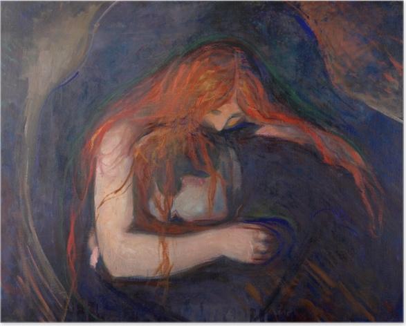 Poster Edvard Munch - Vampire - Reproductions