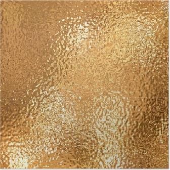 Poster Een zeer groot vel van fijn crinkled goud aluminiumfolie