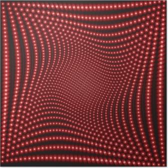 Póster Efecto óptico con círculos rojos