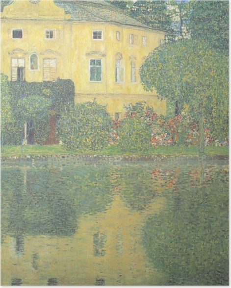 Poster Egon Schiele - Les arbres se reflétant dans un étang - Reproductions