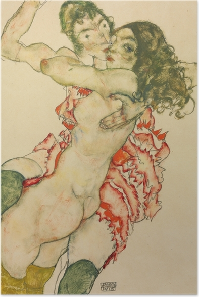 Egon Schiele - Two Women Poster - Reproductions