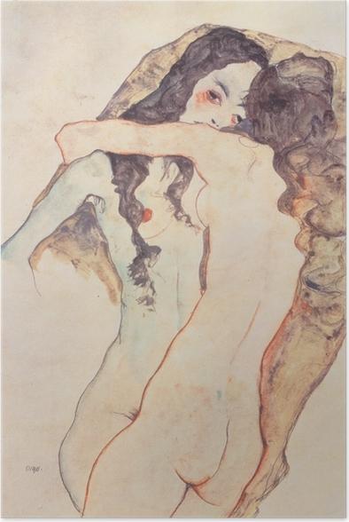 Poster Egon Schiele - Vrouwelijke minnaressen - Reproducties