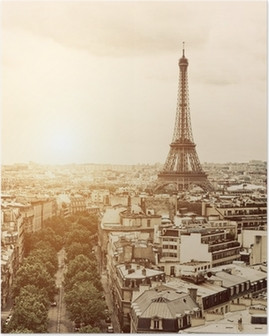 Poster Eiffel depuis l'Arc de Triomphe
