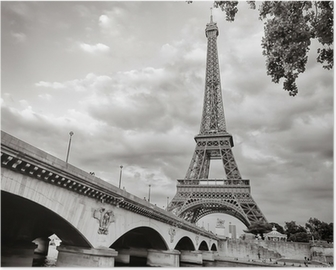 Eiffel tower view from Seine river square format Poster